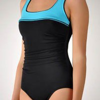 Reebok Women`s Sugarcoat Color Block Swimwear