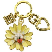 Juicy Couture Flower with Ladybug Key Fob Charm