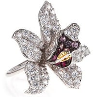 CZ by Kenneth Jay Lane - Cubic Zirconia Orchid Ring - Last Call
