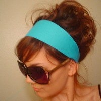 TURQUOISE BLUE Dress hair head band headband Spring Summer fashion