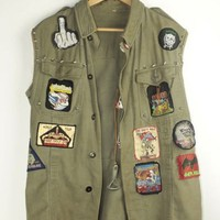 Customized Army Jacket Cutoff | M
