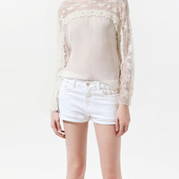 COMBINED EMBROIDERED BLOUSE - Shirts - Woman - ZARA United States