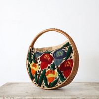 Hand Work - Vintage 60s Embroidered Bag