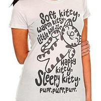 The Big Bang Theory Soft Kitty Song Girls T-Shirt - 145907