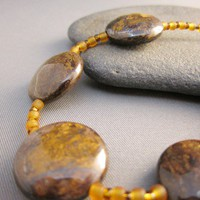 Brown Bronzite Bracelet
