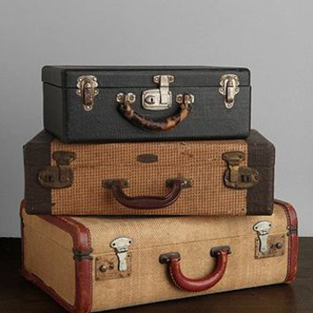 One-Of-A-Kind Vintage Medium Suitcase