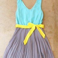 Clearwater Colorblock Dress in Mint [2540] - $37.80 : Vintage Inspired Clothing &amp; Affordable Summer Dresses, deloom | Modern. Vintage. Crafted.
