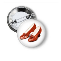 Red Ruby Slippers Pinback Button - 1.25 inches