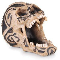 - Open Tribal Skull Polyresin Ashtray - each - Other