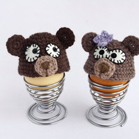 Bear hat Crochet Egg cozy