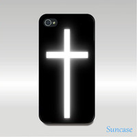 iphone 4 case,iphone 4S case -- white Cross style
