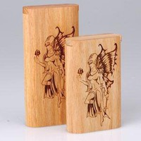 - Twist Top Teak Laser Engraved Fairy Large - each - Other