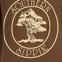 Southern Sippin': Oak Tree Shirt: Chocolate