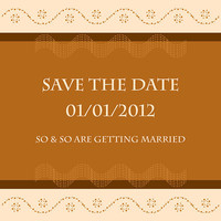 Save The Date - Chocolate Wedding Card Design - Printable File