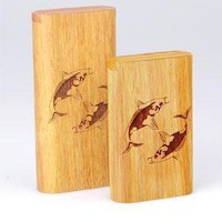 - Twist Top Teak Laser Engraved Koi Large - each - Other