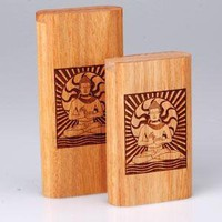 - Slide Top Teak Laser Engraved Buddha Large - each - Other