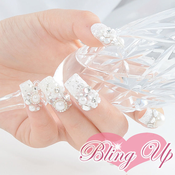 Incredible 3D Wedding Nail Art 570 x 570 · 64 kB · jpeg