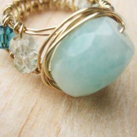 Wire Wrapped Wide Band Ring | Jewelry | UsTrendy