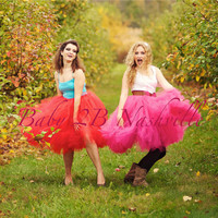 Red Adult Tutu Wedding Portrait Costume Tutu