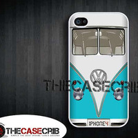 Iphone case - VW bus in Teal Iphone 4 case , Iphone 4s case Volkswagen
