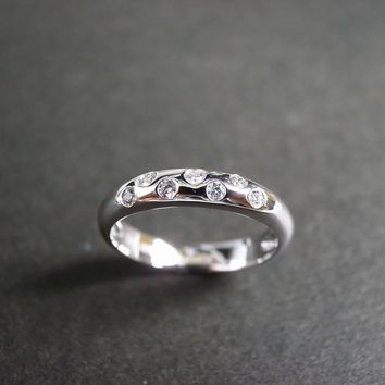 Diamond Wedding Ring In 18K White G.. on Luulla