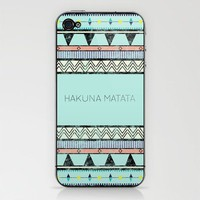 Hakuna Matata iPhone &amp; iPod Skin by Lala | Society6
