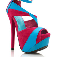 two-tone-platform-heels BLUE FUCHSIA - GoJane.com