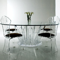 Haziza.com Crystal Rock Dining Table