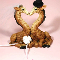 Giraffe, Giraffes Wedding Cake Topper