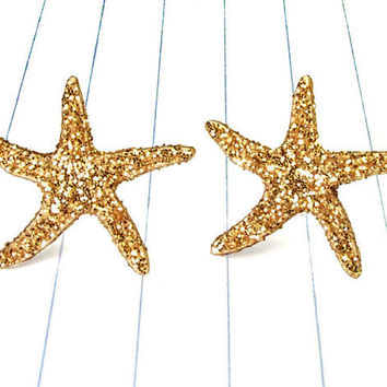 starfish earrings - starfish jewelry - starfish studs - starfish - nautical - nautical earrings - nautical jewelry - nautical studs - summe
