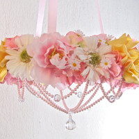 Shabby Chic Nursery Floral Mobile