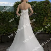 Wholesale A-Line Strapless Floor Length Gown with Satin and Organza J6210 ,for $198.00 only in VikiDress.com.