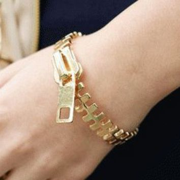 Zipper Fashion Statement Bracelet | LilyFair Jewelry