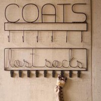coats rack \ raw finish