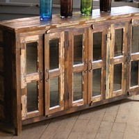 sideboard with six glass doors