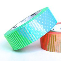 Aqua & Silver Collage - mt Washi Tape — Omiyage - cute, clever & crafty goods!