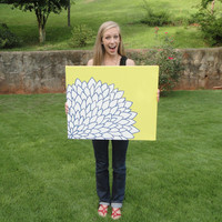 20x24 Inch Made to Order Painting in Your Own Colors - Modern Flower Painting