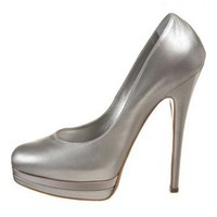 Casadei satin triple platform pumps