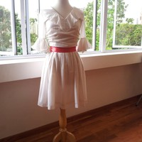 White Voile Dress - Ruffled, Romant.. on Luulla