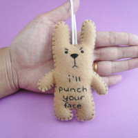 Christmas in July 20% OFF Funny decoration ornaments, I'll punch your face, funny bunny