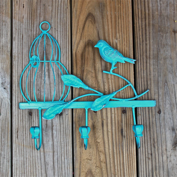 Turquoise Shabby Chic Bedrooms: Wall Hook /Turquoise /Shabby Chic Decor From AquaXpressions On