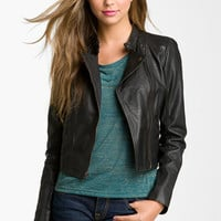 Rubbish® Crop Leather Biker Jacket (Juniors) | Nordstrom