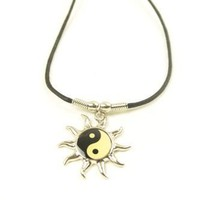 Peace Sign Sun Necklace