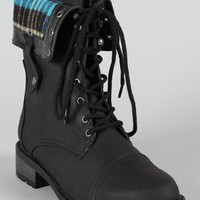 Qupid Relax-36 Military Combat Boot