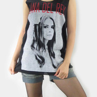 LANA DEL REY Indie Pop Alternative Rock Music T-Shirt Tank Top Women Black Shirt Singlet Sleeveless Vest Tunic Tank Indie Pop Shirt Size M L