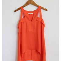 Orange Caged Tank