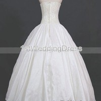 Bridal Party Dresses - Luxury Exquisite Embroidered  Beading Satin and Taffeta Ball Gown Wedding Dress CT588 - Real Sample Shoot - Wedding Apparel - Affordable Wedding Dresses Manufacturer