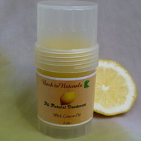 Natural deodorant - neem deodorant stick - lemon deodorant - tea tree oil deodorant - coconut deodorant