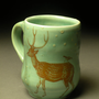 Deer and Bird Mug by patticeramics on Etsy