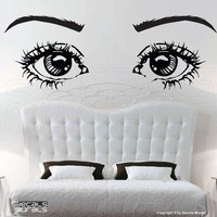 Wall decals EYES ON YOU large vinyl art